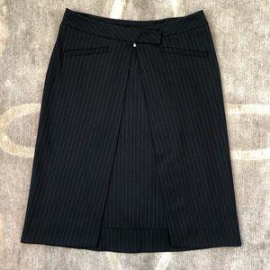 NWOT Derek Lam Pinstripe Wrap Skirt